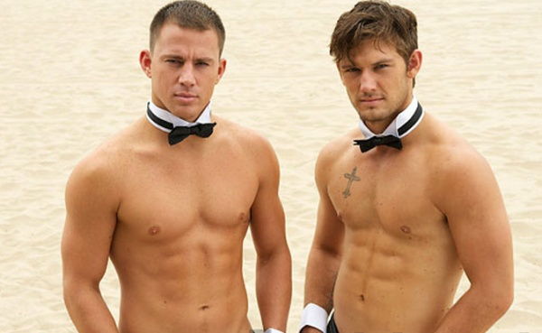 strippers als magic mike op strand verjaardag